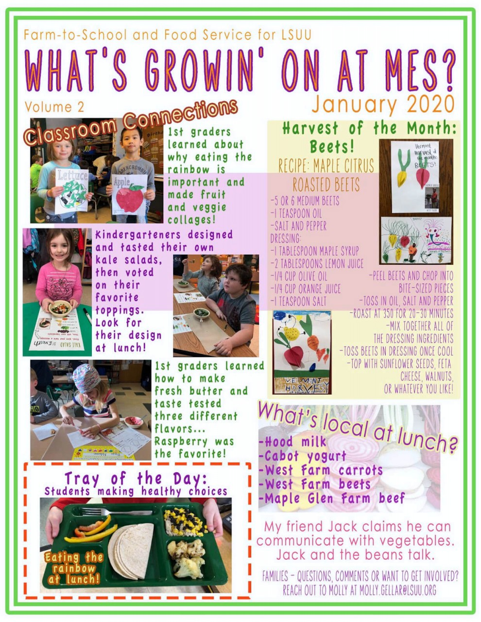 What's Growin' On at MES? January 2020